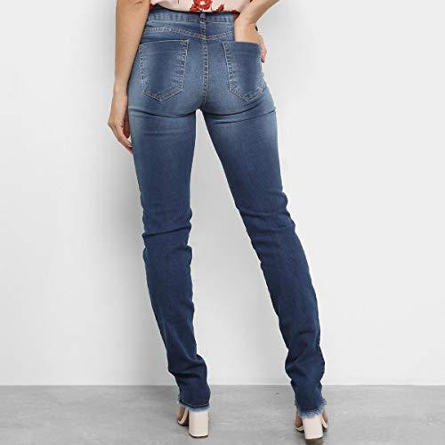 Calça Jeans Skinny Dimy Cintura Média Feminina - Azul - 40