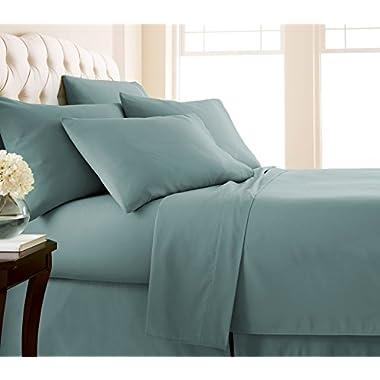Southshore Fine Linens® - 6 Piece - 21 Inch - Extra Deep Pocket Sheet Set (Queen, Steel Blue)