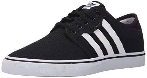 (adidas Originals Men's Seeley Running Shoe, Black/White/Gum, (10.5 M US))