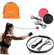 Sfee Boxing Reflex Ball Set, 2 Training Difficulty Levels Box Ball with Non-Slip Headband Adjustable String -
