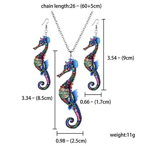 Doitsa Femme Ensemble de Boucles doreilles Collier Style R/étro Bijoux Pendentif Forme de Animal Phoenix Color/é