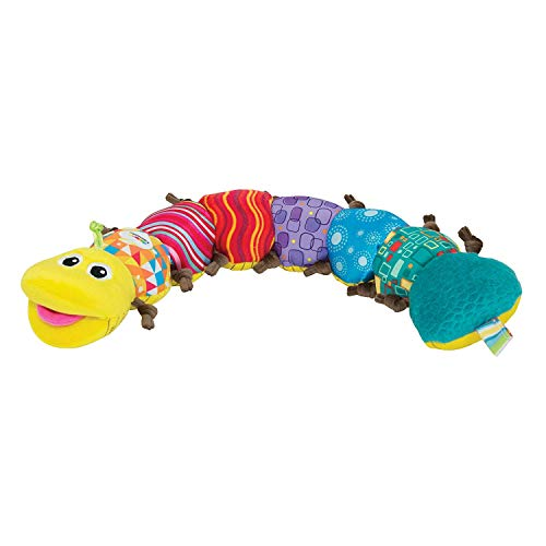 LAMAZE - Musical Inchworm Toy, Encourage Tummy Time While Baby Learns and Plays with Music, Bright Colors and Fun Textures, 0 Months and Older ()