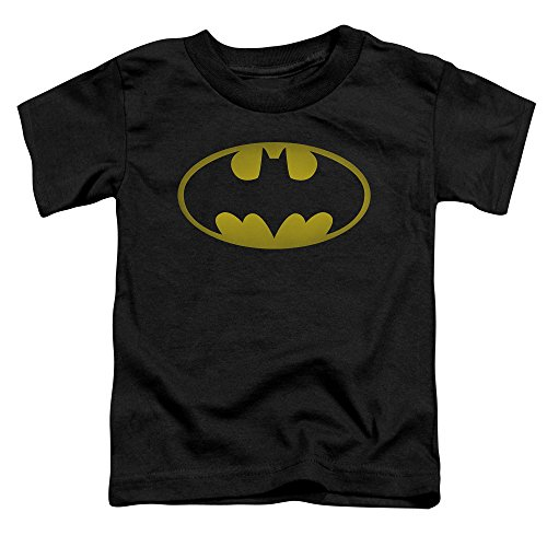 Price comparison product image Batman Washed Bat Logo Little Boys Shirt BLACK LG (4T)