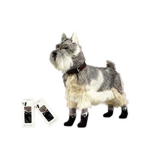 ZERVIOE Pet Dog Socks For Hardwood Floor Indoor Wear Paw Protection (Small)
