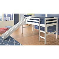 Twin Loft Bed with Slide in White 704347