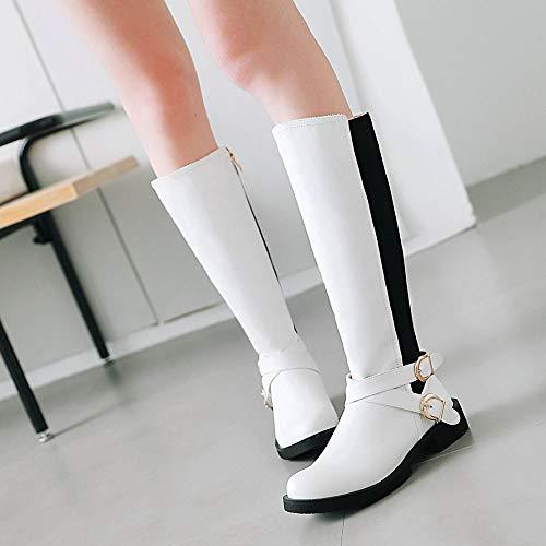 Coolcept Blanc Bottes Plates Femmes 24 Éclair Boots Fermeture Longue Zrq0dwZ