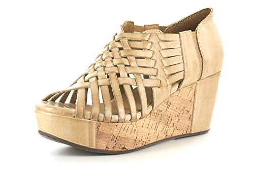 Chocolat Blu Web Wedge Womens Sandal Web-CAMELLEATHER Camel 7 M US ()