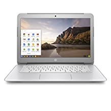 HP Chromebook 14-Inch (Intel Celeron, 2 GB RAM, 16 GB SSD), Silver/White