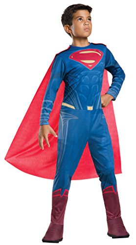 Kids Superman Costumes (Rubie's Costume Batman vs Superman: Dawn of Justice Superman Value Costume, Large)