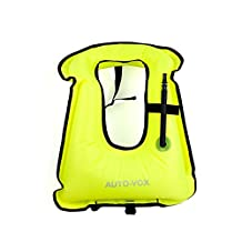 Adult Inflatable Life Snorkeling Vest Jacket Great for Snorkeling Surfing Swimming Boating Kayaking Fishing Rafting and Floating,Ensure your Safety of Water activities