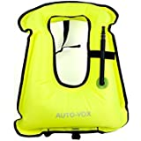 AUTO-VOX Adult Inflatable Life Snorkeling Vest Jacket Great for Snorkeling Surfing Swimming Boating Kayaking Fishing Rafting and Floating,Ensure Your Safety of Water Activities