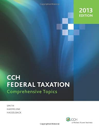 federal taxation comprehensive topics 2013 harmelink and rh amazon com Progressive Taxation Federal Taxation Solution Manual