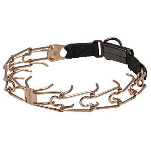 Herm Sprenger Click Lock Buckle Canine Pinch Collar Made of Curogan - 1/8 inch (3.2 mm) - Size 21 inch (52 cm) by Herm Sprenger pinch dog collars