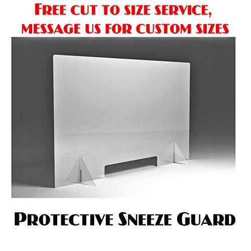 Protective Sneeze Guard, Clear Acrylic Plexiglass