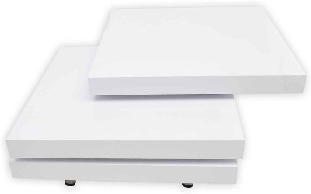 vidaXL Table Basse 3 Etag/ères Table dAppoint Meuble de Salon Rangement Maison