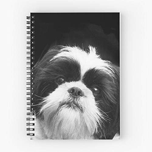 Pet Animal Pets Tzu Dogs Dog Shih Tzus Nettes Schul-Fünf-Sterne-Spiral-Notizbuch mit haltbarem Druck