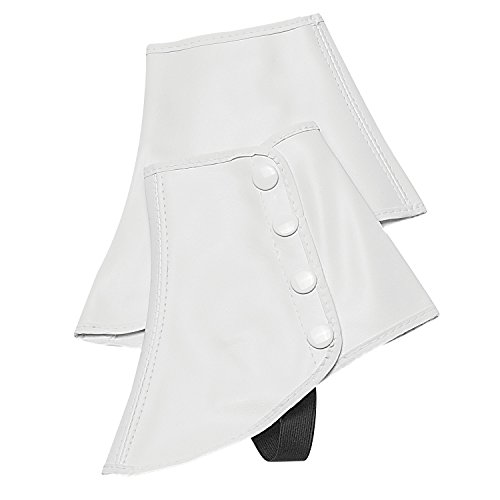 Snap Spats (White, Small) by Director's Showcase (Spats For Shoes)