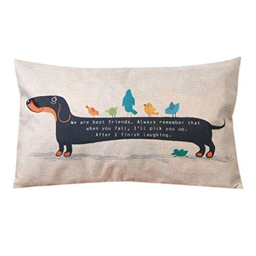 HITRAS Home Decor Cotton Linen Sofa Rectangle Dog Cushion Pillow Cases Cover (Velvet Bed Microfiber Bolster)