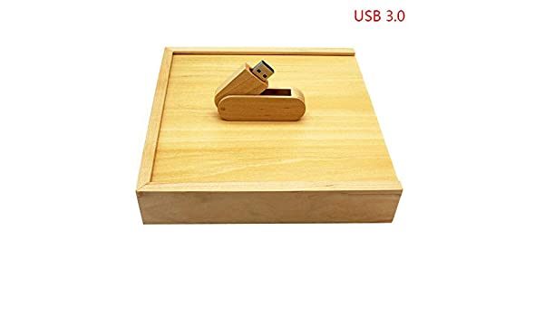 HEDOMEN Usb3.0 Logo Fotografía 360 Rotar Grado Madera de Arce + Caja USB Flash Drive Pendrive 4 GB 8 GB 16 GB 32 GB USB 3.0 Madera con Caja 32 GB: Amazon.es: Electrónica