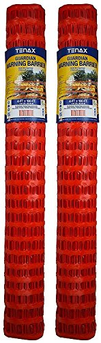 Tenax 2A060006 Guardian Economy Safety Fence, Orange, 4-Feet by 100-Feet (Pack of 2) by Tenax