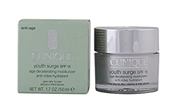 Clinique  Youth Surge Night Age Decelerating Night Very Dry 1.7-ounce Moisturizer Anti-Wrinkle Night Serum - 2 oz. by DERMA-E (pack of 2)