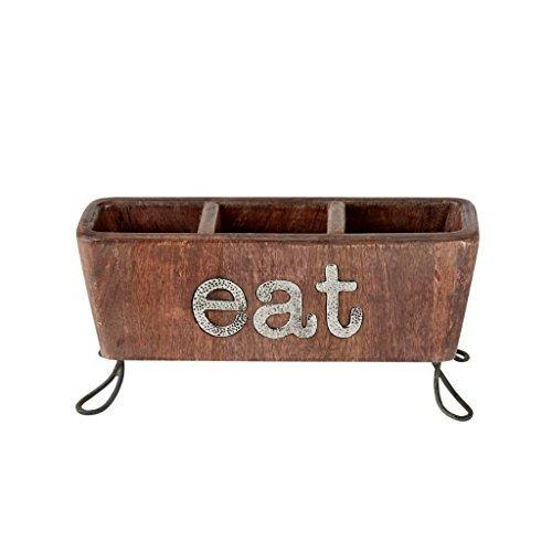 Mud Pie 4581012 Eat Flatware Caddy