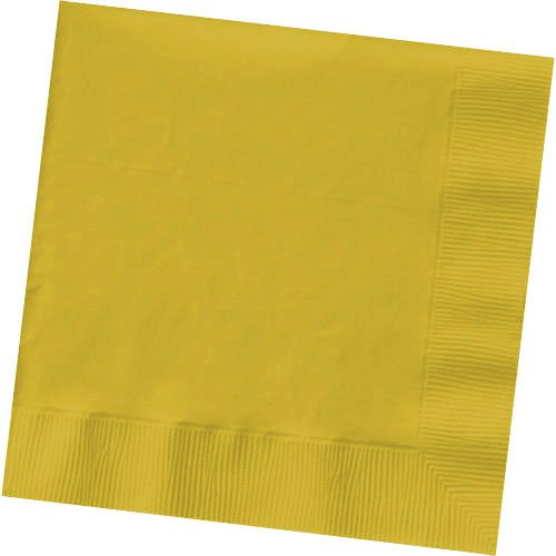 Amscan 600013-09 048419763291 Yellow Sunshine, Big Party, 2-Ply Beverage Napkins, 125 Per Pack, One Size, -