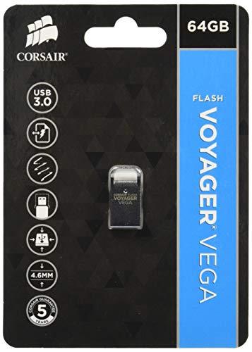 Corsair Flash Voyager Vega 64GB Ultra Compact Low Profile USB 3.0 Flash -