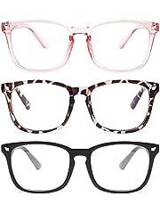 Blue Light Glasses - 3Pack Blue Light Blocking Glasses, Computer Gaming Glasses for Women Men, Anti Eyestrain & UV Glare