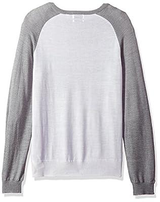 Calvin Klein Men's Merino Color Blocked Raglan Crew Neck Sweater