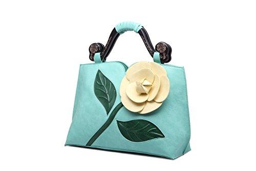Bandolera Bolso De Moda E Señoras Wind Clásica Mano Elegante Lucky Flor Star La Marea National Retro Rosa Las e qWOIX