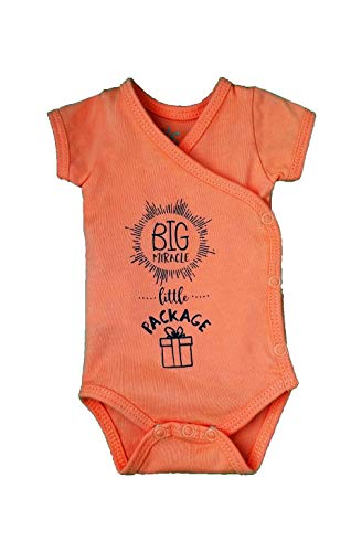 (Girls' Preemie Onesie-100% Organic Cotton-'Big Miracle Little Package' NICU Nurse Approved Clothing)