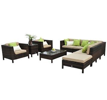 Muebles terraza rattan set completo de muebles terraza for Amazon muebles terraza