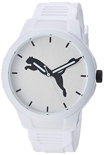 (PUMA Men's Reset Quartz Watch with Polyurethane Strap, White, 20 (Model: P5012) )