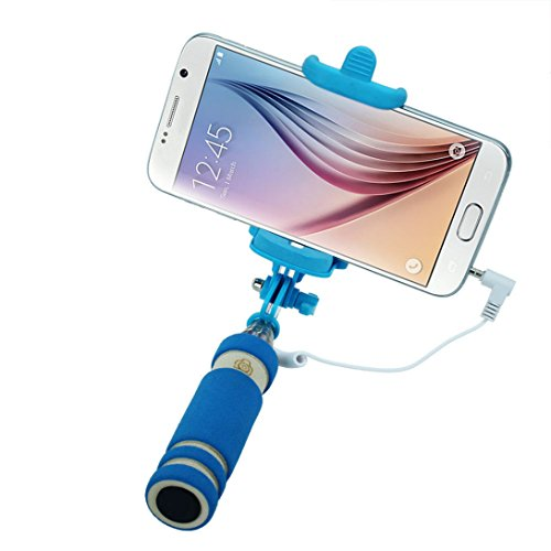 Price comparison product image Wensltd Tripod Monopod Extendable Handheld Fold Self-portrait Stick (Blue)