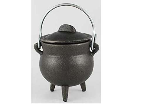 Plain Cast Iron Cauldron 3'' * metapot.com by New Age