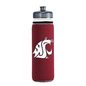 NCAA Washington State Cougars Van Metro Squeezable LDPE Water Bottle, Maroon, 22-Ounce