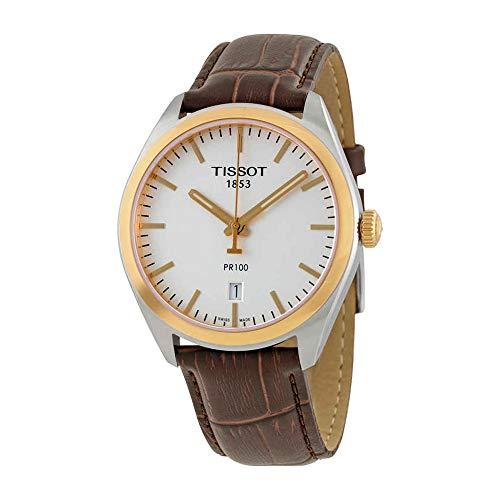(Tissot Men's T1014102603100 Analog Display Quartz Brown Watch)