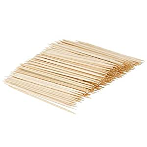 Pack of 300 Bamboo Skewers for Appetizers (4 Inch)