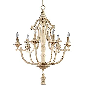 Kathy kuo home maison french country antique white 6 light kathy kuo home maison french country antique white 6 light chandelier aloadofball Images