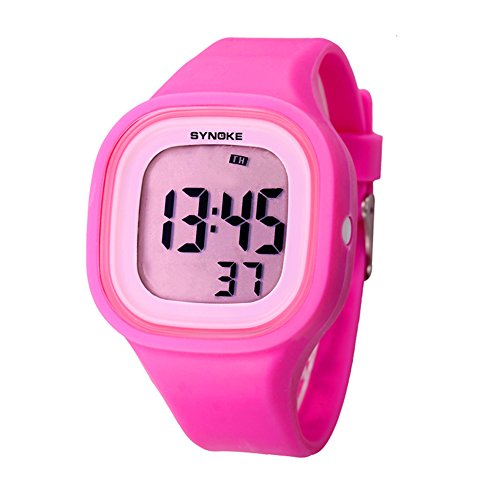 Big Face Digital Sport Waterproof Kids Watch for Girls Wristwatches by Touhum