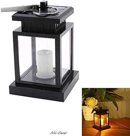 Garden Solar Powered LED Candle Table Lantern Hanging Light Outdoor Garden Lamp