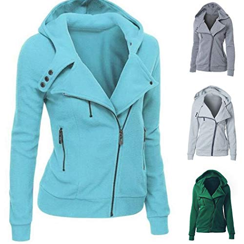 Youandmes Womens Long Hoodie, Thermal Zip Up Jacket Hooded Warm Coat Casual Jackets