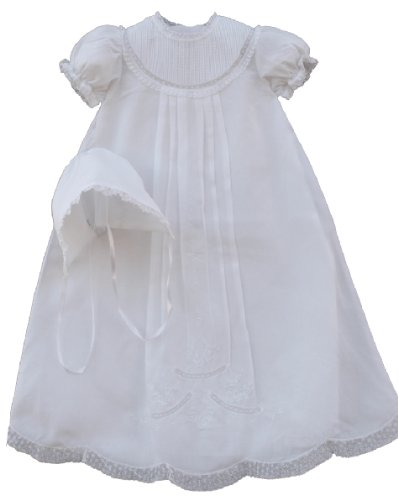Feltman Brothers Infant Baby Girls White Christening Baptism Gown (Heirloom Baptism Gowns)