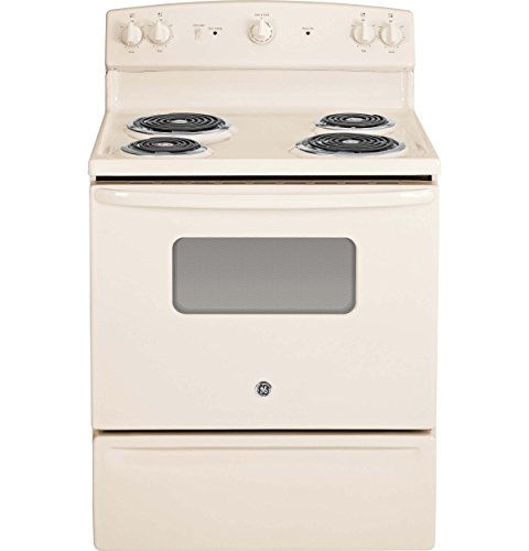 GE JBS10DFCC 30-Inch 5 Cu.Ft. Free-Standing Electric Range, Bisque (Freestanding Electric Ranges Clean Standard)