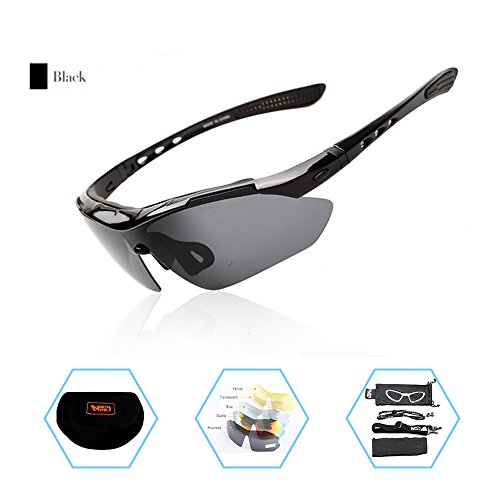 Huya live Polarized Sports Sunglasses With 5 Interchangeable Lenes for Men Women Kids Cycling Running Driving Fishing Golf Baseball - Sunglasses Live At Night