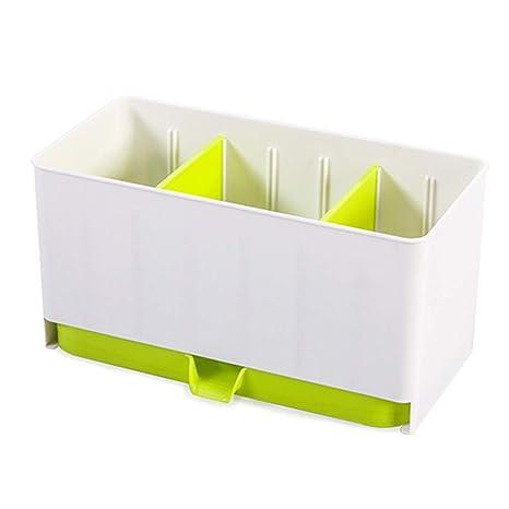 Organizador de estante de plástico, organizador, cuchara de almacenamiento, multifunción, para cubiertos