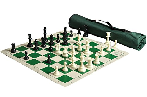 The House of Staunton US Chess Quiver Chess Set Combo - Green (1 - Chess Staunton