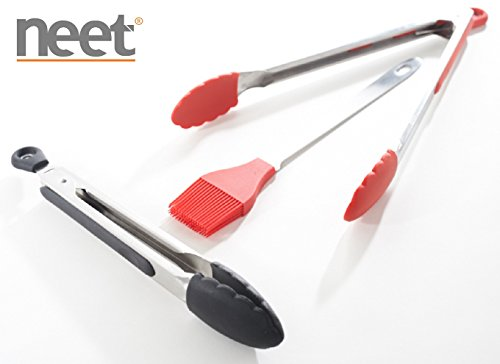 Neet Stainless Steel Grilling Serving Basting Set