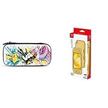 PowerA Stealth Case Kit for Nintendo Switch Lite - Pokemon Battle - Nintendo Switch & Nintendo Switch Lite DuraFlexi Protector by Hori - Officially Licensed by Nintendo